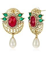 Ava  Drop Earrings for Women (Golden) (E-VS-1906)