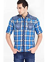 Blue Casual Shirt Locomotive