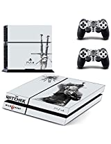 Xenoverse Vinyl Decal Protective Skin Cover Sticker For Sony Ps4 Console And 2 Dualshock Controllers The Witcher 3: Wild Hunt