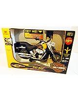 "New Bright 12"" Battery Operated Harley Davidson -Black Fat Boy"