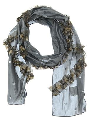 Lola Casademunt Chal Foulard ruxa zig-zag (gris)