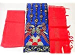 Blue Kalamkari Cotton Dress Material With Dupatta