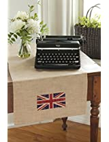 Downton Abbey Table Runner (16 X 72 ) Natural From the Union Jack Collection