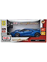 Maisto Ford GT Scale-1:24 Remote Control Toy Car (Blue)