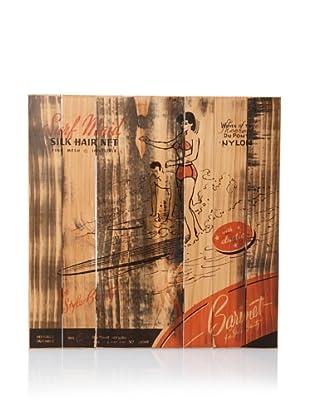 Magnetic Grain Screenprinted Wall Panel (Wood/Orange)
