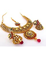 Indian Attire Women's Wedding Wear One Gram Gold Plated Jewellery JWBANT18