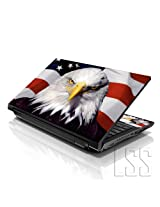 LSS 17 17.3 inch Laptop Notebook Skin Sticker Cover Art Decal Fits 16.5 17 17.3 18.4 19 HP Dell Apple Asus Acer Lenovo Asus Compaq (Free 2 Wrist Pad Included) USA Eagle