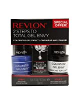 Revlon 2 Steps To Total Gel Envy Long Wearing Nail Enamel 760, Wild Card And Diamond Top Coat (Pack Of 2)