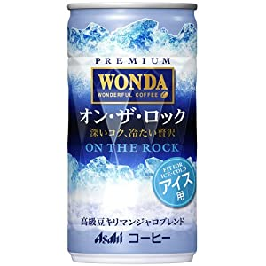 アサヒ WONDA オン・ザ・ロック 缶 190g×30本