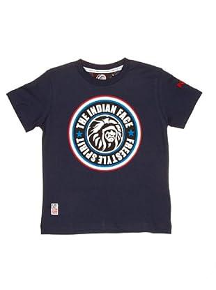 The Indian Face Camiseta Básica Logo (Azul Marino)