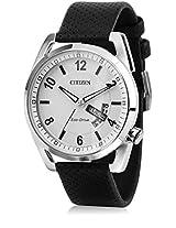 Aw0010-01A Black/White Analog Watch CITIZEN