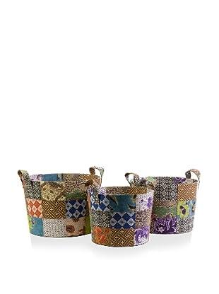 Set of 3 Sidonie Batik Baskes