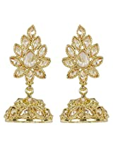 Gorgeous Golden Polished Made Charming Jhumki Wedding Jewelry For Women
