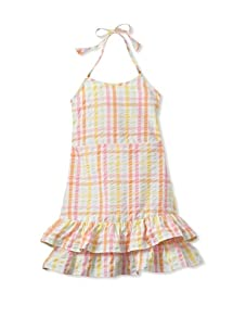4EverPrincess Girl's Cindy Dress (Pastel Multi-Plaid)