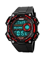Gosasa Men's LED Military Digital Sports Watches S shock Outdoor Dive Multifunctional Wristwatch - Red