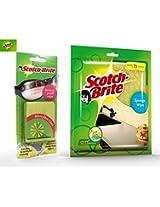 Scotch-Brite Combo ( Scratch Proof Wipe for Lens Cleaning + Sponge Wipe (L) - Set of 3Pcs)