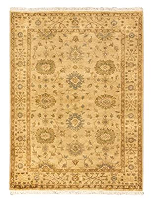 eCarpet Gallery One-of-a-Kind Hand-Knotted Royal Ushak Rug, Yellow, 4' 10