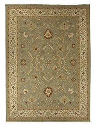 Jaipur Rugs Hand-Knotted Oriental Pattern Rug, Green/Ivory, 9' x 12'