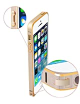 iAccessorize Ultra Thin Premium Metal Bumper Case Cover For Apple iPhone 4/4S (Gold)