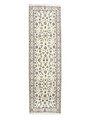 Darya Rugs Authentic Persian Rug, Ivory, 3' x 9' 9