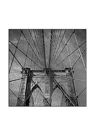 Brooklyn Bridge, New York City Photography On Mounted Metal