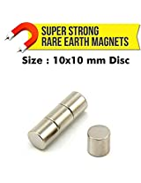 MFM Toys Neodymium Magnets (NdFeB) 10x10mm Disc - 4 Pcs.