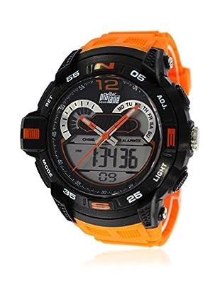 Pit Lane Uhr mit Miyota Uhrwerk Pl-2005-3 orange 50 mm