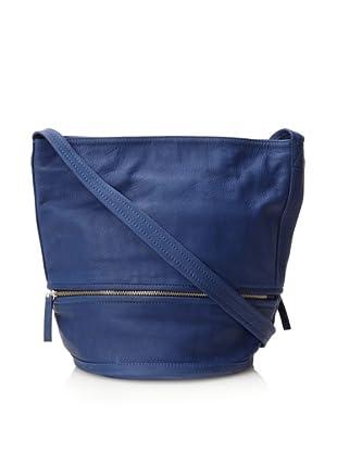 Hare + Hart Women's Classic Small Bucket Bag, Cobalt