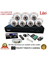 AHD LIO 8CH DVR + AHD 1.3 Megapixel High Resolution LIO 36IR DOME CAMERA 7pcs + 1 TB WD HDD + CABLE 3+1 COPPER + POWER SUPPLY (FULL COMBO)