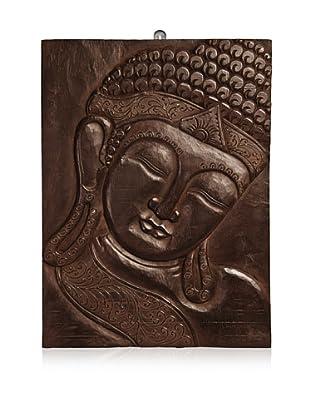 Buddha Wall Panel, Dark Brown