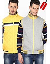 Yellow Quilted Jackets