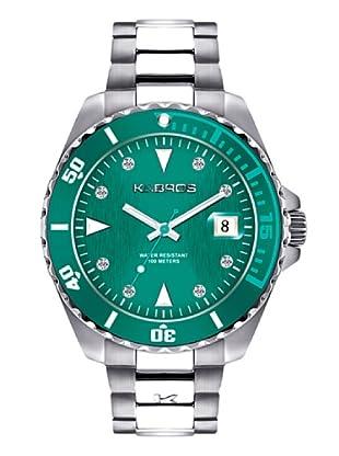 K&BROS 9175-5 / Reloj de Señora  con brazalete metálico verde