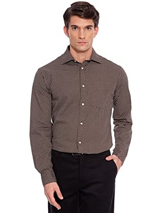 Hackett Camisa Estampada (Marrón / Blanco)