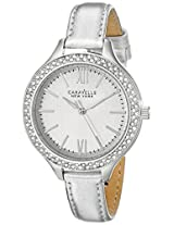 Bulova Analog Silver Dial Women's Watch - 43L167