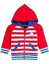 Infant Boys Hooded Sweatshirt, Multi Colour (0-6 Months)