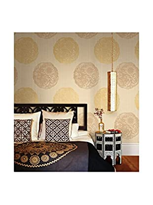 Brewster Cordova Medallion Strippable Wallpaper, Taupe