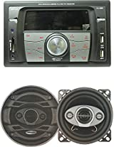 """Worldtech 7555UC WT Front Double DIN Music System with 6"""" Speakers Set"""