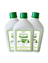 Bhumija Lifesciences Aloevera Juice (Sugar Free) 1 L (Combo Pack of Three)