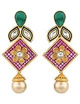 Adwitiya Collection Stones And Kundan Earrings for Women