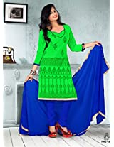 The New Designer Attractive Green And Blue Salwar Suit FA219-1021
