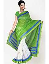 Printed Green Saree Aashima