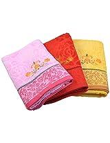 Jai Ambe 250 GSM 3 Piece Cotton Towel Set - Multi Colour