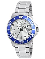 Invicta Men's Quartz Watch with Silver Dial Analogue Display and Silver Stainless Steel Bracelet 21569