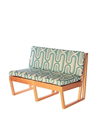 nine6 Design Cypress Jacinto Loveseat, Turquoise/Blonde