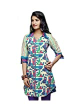 Karishma Suit - FREE Maybelline Colossal Kajal MRP 199 - s Multicolor Geometric Print Pure Cotton jacquard ï¿1/2 Unstitched Kurti Fabric For Women | KLVPG25