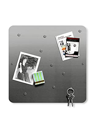 """Three by Three Set of 2 Square 12"""" Stainless Dot Bulletin Boards"""