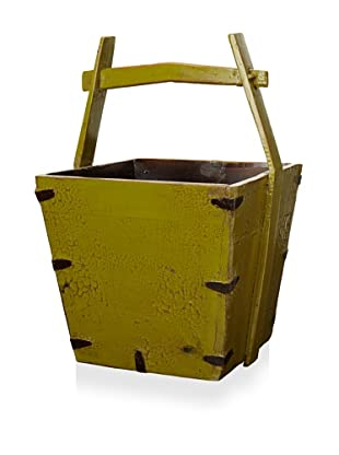 Royola Pacific Square Wooden Bucket (Apple Green)