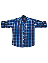 LITTLE MAN Cotton Boy's Shirt (LM12C2_12 , Blue, 12)