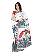 Parichay Women's Silk Saree(Blue)