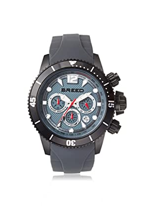 Breed Men's 4305 Salvatore Charcoal Silicone Watch